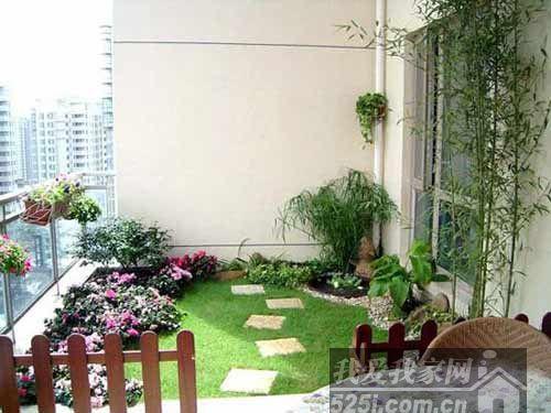 高层住户的庭院情结而生的一种家庭花园装修形式.入户花园虽高清图片