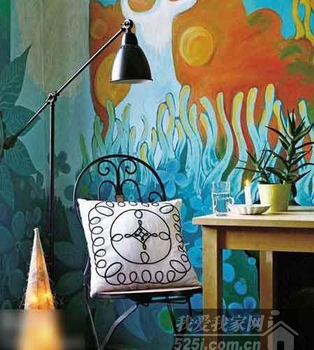 百变墙面涂鸦 七款手绘背景墙让家惊艳