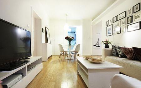 客厅装修效果图-半包3.5万装修82平2室2厅现代简约 图高清图片