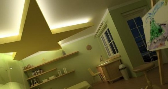 012最新潮流儿童房吊顶效果图赏析