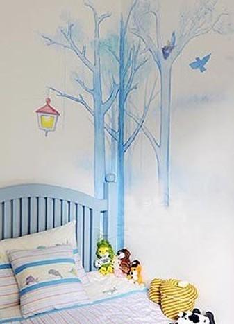 墙面装修 6款完美手绘背景墙