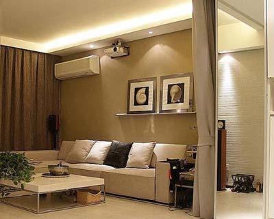 8款客厅设计 60平小户型装修效果图 3高清图片