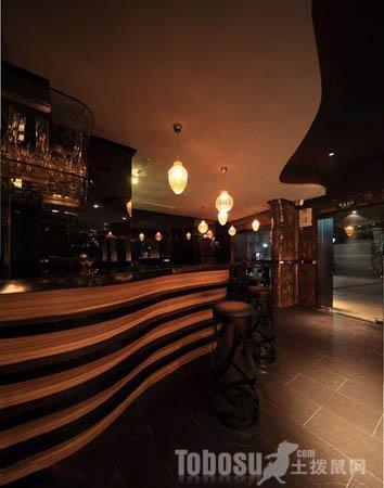 酒吧吧台效果图