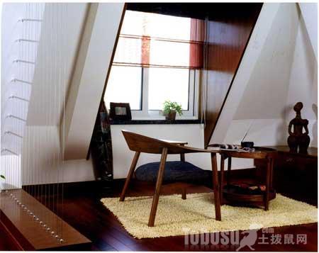 精美的阁楼书房装修设计效果图