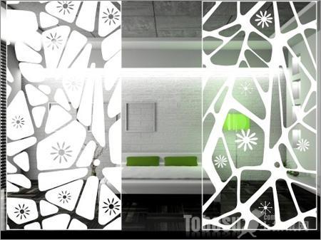 艺术玻璃隔断效果图