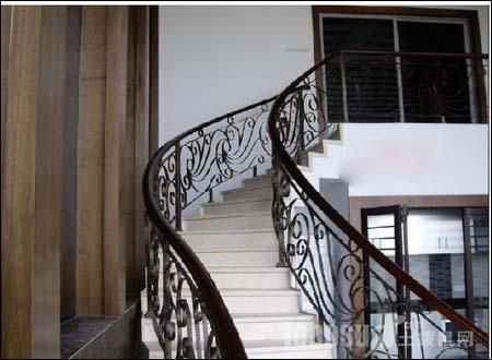 铁艺楼梯扶手图片图片