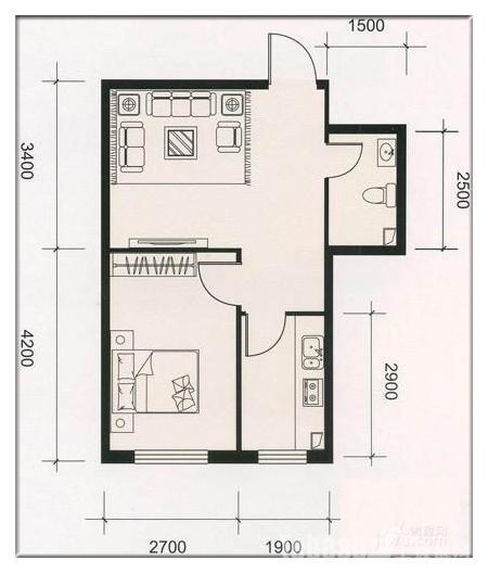 4室二厅装修平面图,两室一厅装修平面图,100平米3室一厅平高清图片