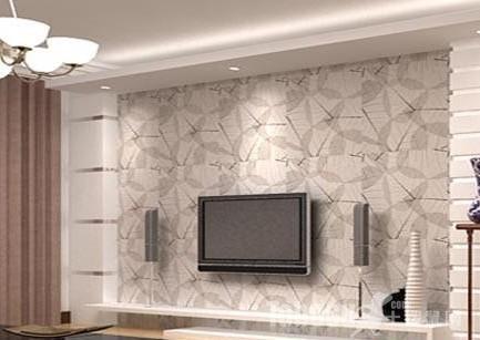 很多人喜欢简约,现代的装修风格,采用玻璃与金属材料做电视背景墙