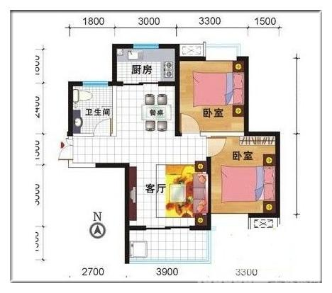 70平米两室一厅装修预算费用清单高清图片