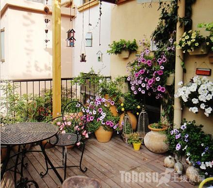 阳台花园设计_露天阳台花园设计_阳台设计效果图大全