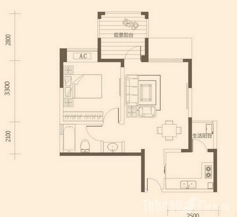 60平米一室一厅半包装修预算费用清单