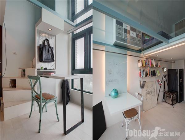 时尚小复式楼装修效果图展示高清图片