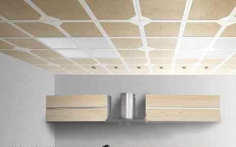 吊顶安装  铝塑板吊顶则是铝制材料和塑胶