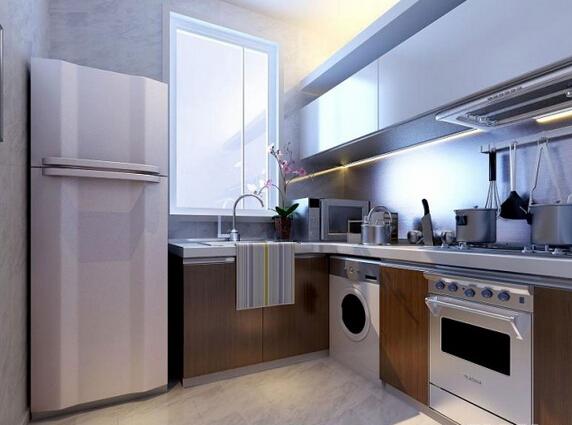 厨房的电路需要注意,因为厨房天天用水用火,所以不能有明线外露,九