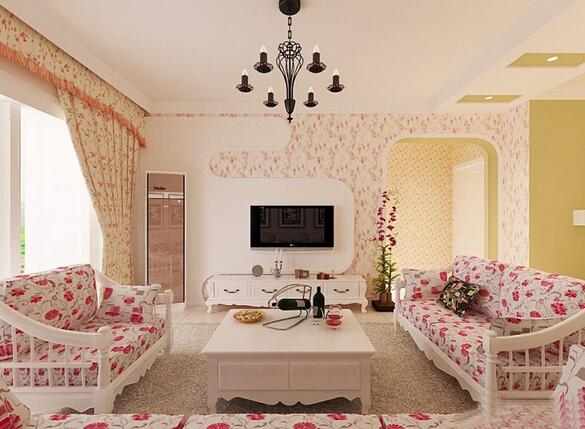 古典欧式风格客厅小碎花地毯