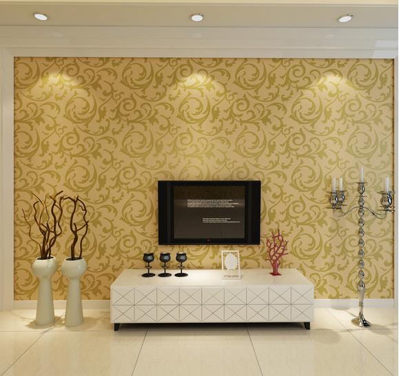 电视墙壁纸怎么选 电视墙壁纸安装效果