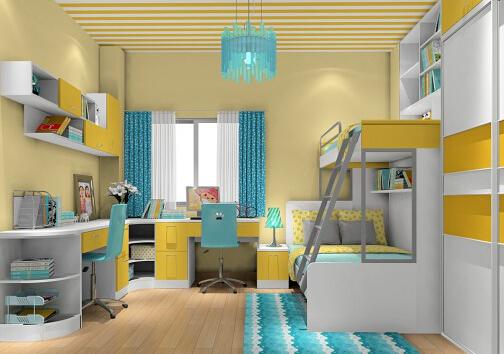 两个孩子的儿童房怎样设计?
