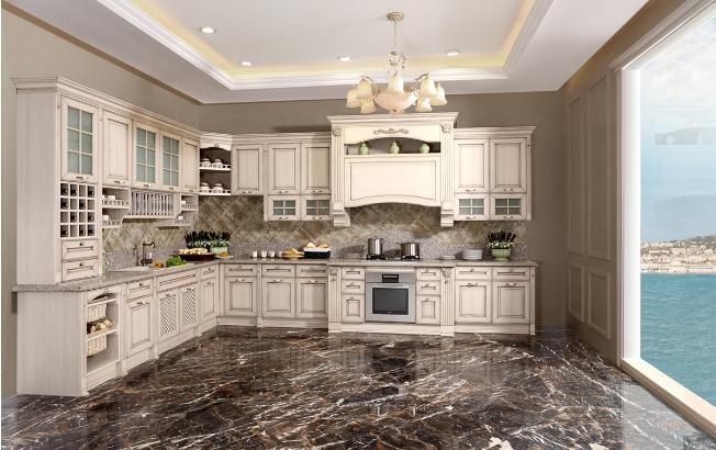 独立岛台中的连体吧台设计,让您再享受便利厨房的同时,停下脚步,体验