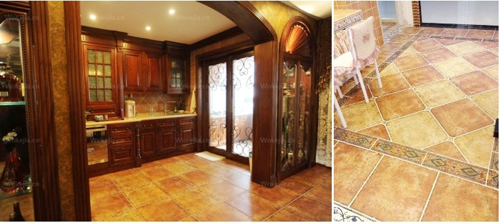 劳伦斯瓷砖撒哈拉系列直角砖 欧式客厅仿古砖 防滑瓷砖 500*500mm