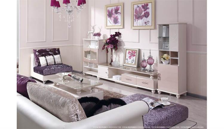 欧式客厅沙发组合柜
