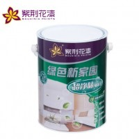 紫荆花漆 绿色新家园 超净味墙面漆 5L 内墙乳胶漆 油漆/