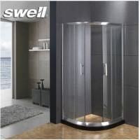 四维卫浴(swell)卫生间 简易扇形浴室钢化玻璃隔断 1米