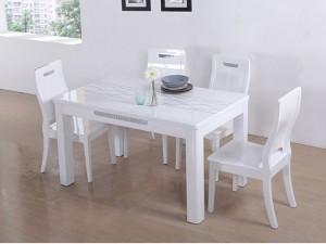 【掌上明珠家具 简约现代 大理石台面餐桌 椅】图片