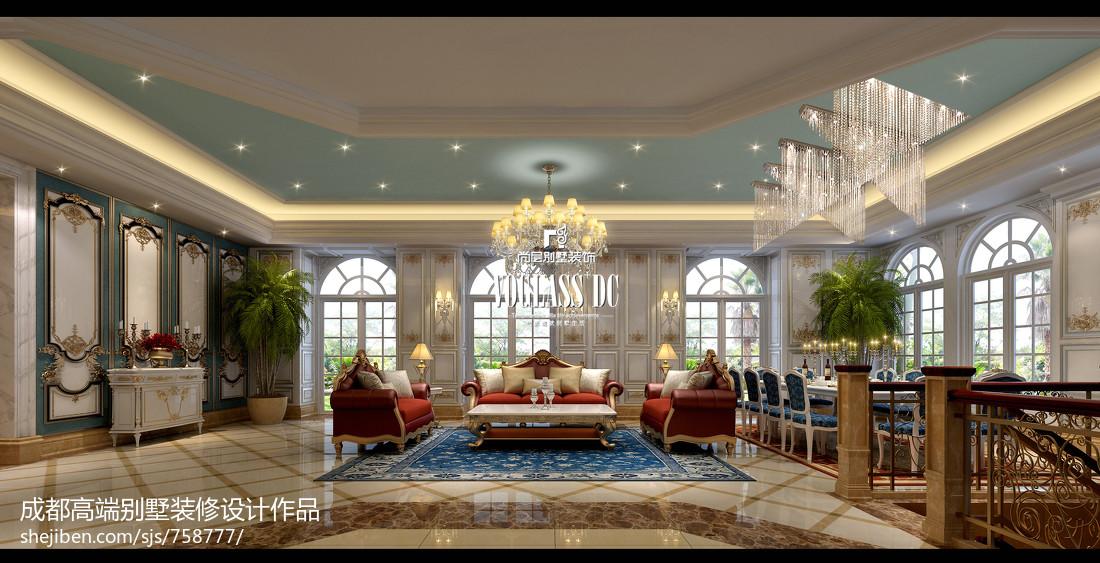 成都高端别墅装修-雅居乐独栋宫廷法式风格图片