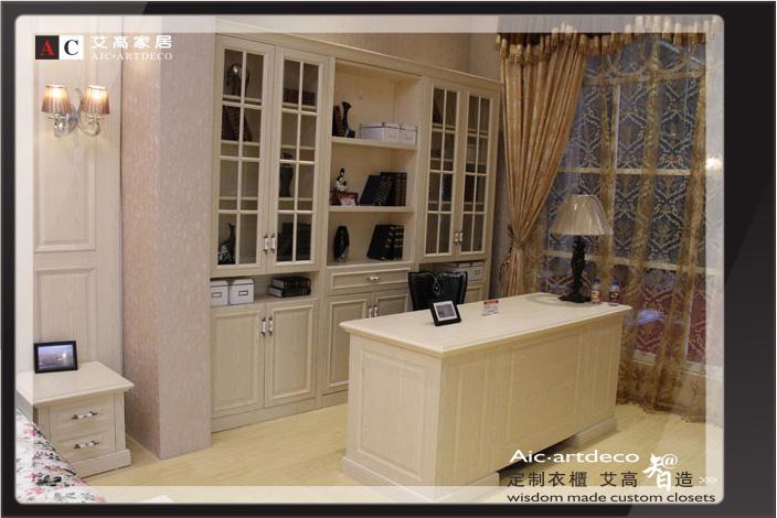 图片解说:参展产品英伦时尚简欧书桌和艾尔玛简欧书柜图片