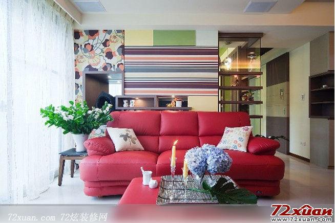 现代客厅沙发背景墙图片装修效果图 第4张 家居图库 九正高清图片