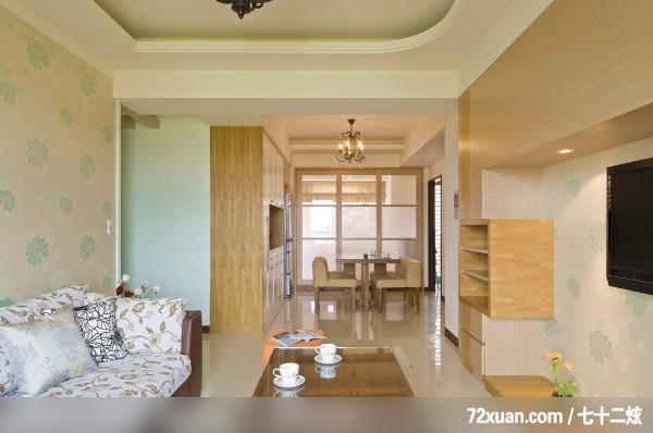 客厅,造型沙发背墙,造型电视主墙,造型天花板,无隔间设计, (7/23)