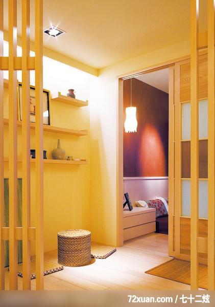 平方米日式风装修效果图(组图),龙发,林轶伟,多功能室,拉门,书架层板