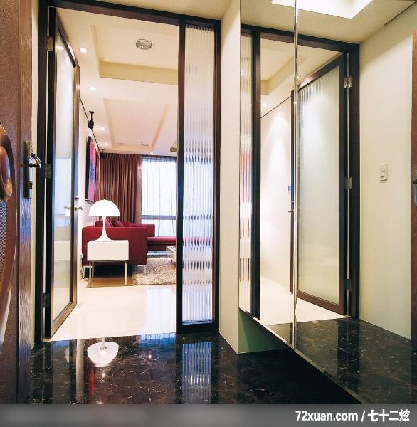 玄关,穿透设计,二进式玄关门,收纳鞋柜,装修效果图 第8张 家居高清图片