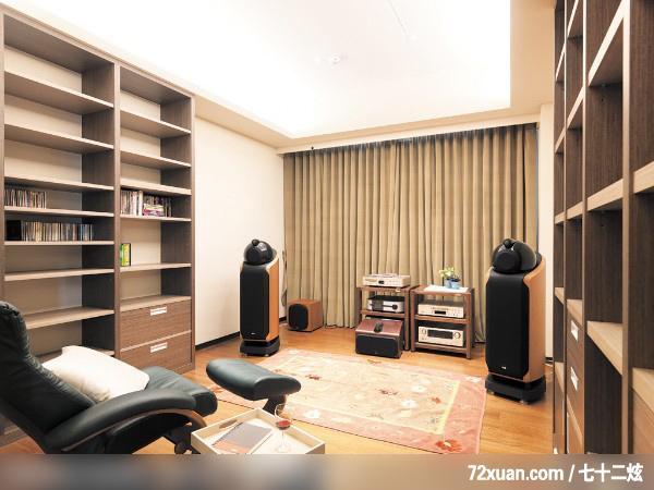 文,多功能室,书架层板,视听柜,造型天花板,装修效果图 第11张