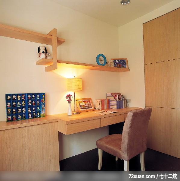 卧室,阅读区,书架层板,造型衣橱,装修效果图 第7张 家居图库
