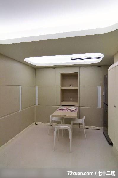 电器收纳柜,,造型天花板,冰箱,冷气摆放设计,装修效果图 第7高清图片