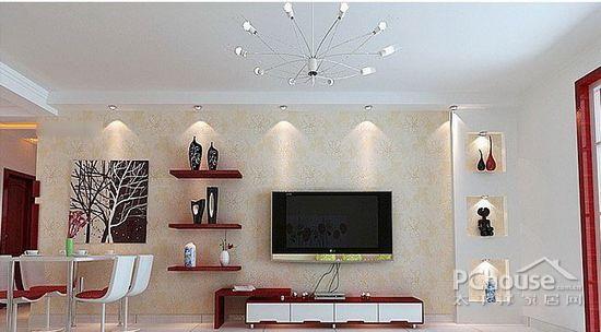 欧式公寓客厅电视背景墙 (9/9)图片