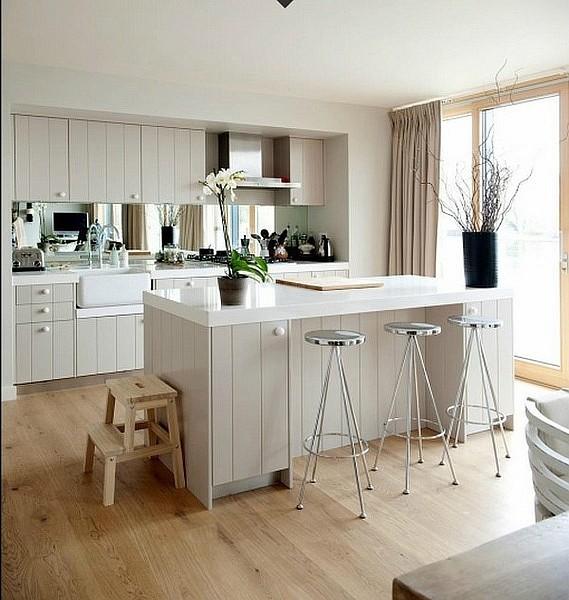 17万打造120平欧式田园风格开放式厨房橱柜装修图片 (1/6)图片