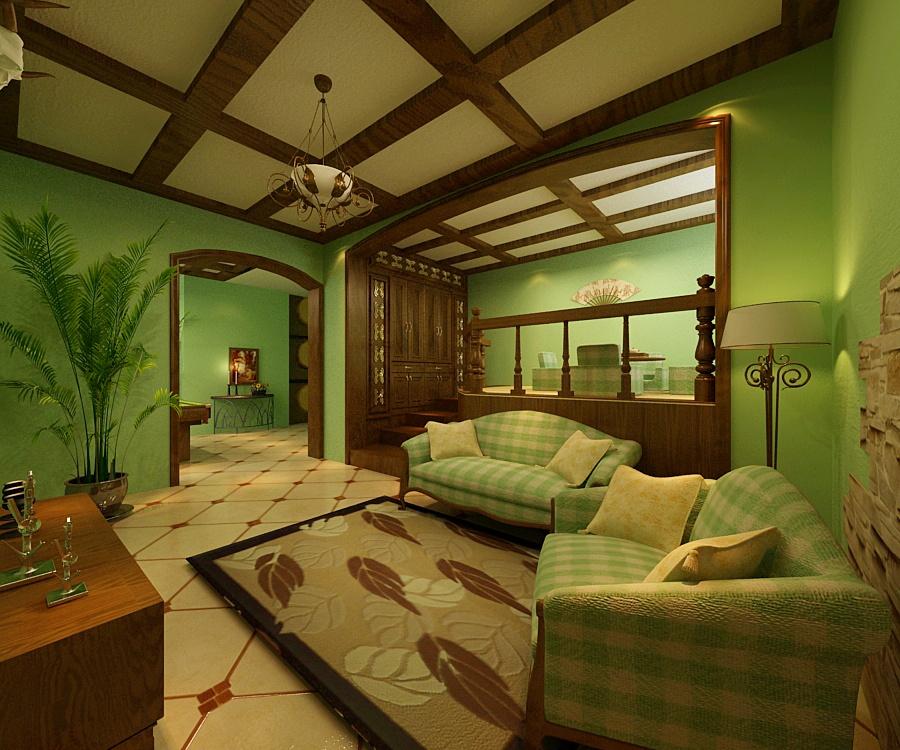小户型美式乡村客厅装修效果图大全2012图片装修效果图 第5张 家居高清图片