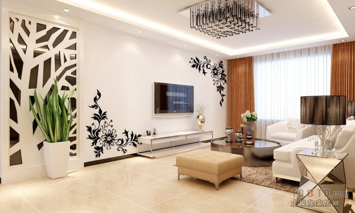 手绘电视背景墙墙纸图片装修效果图_第3张 - 家居图库