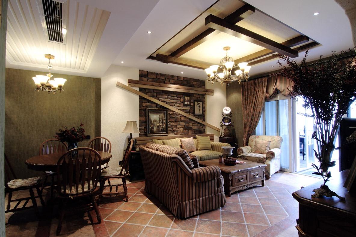 房屋装修藤木风格室内装修窗帘图片13