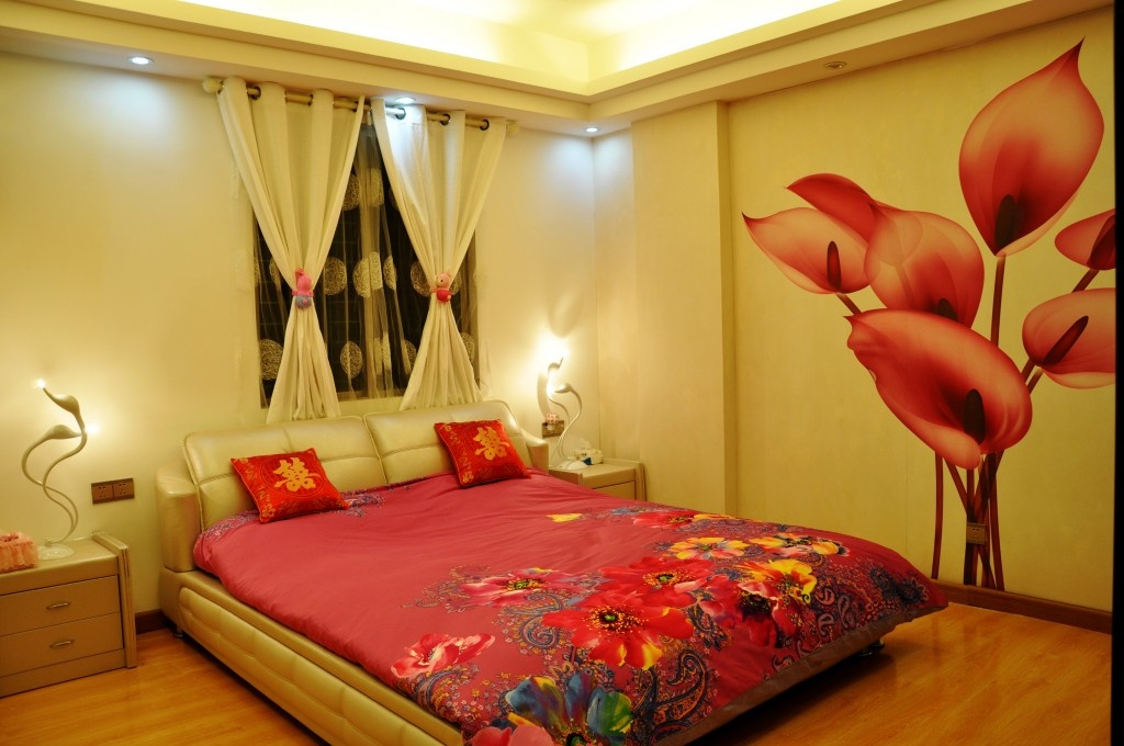 90平米小户型浪漫的现代风格卧室装修效果图大全2012图片高清图片
