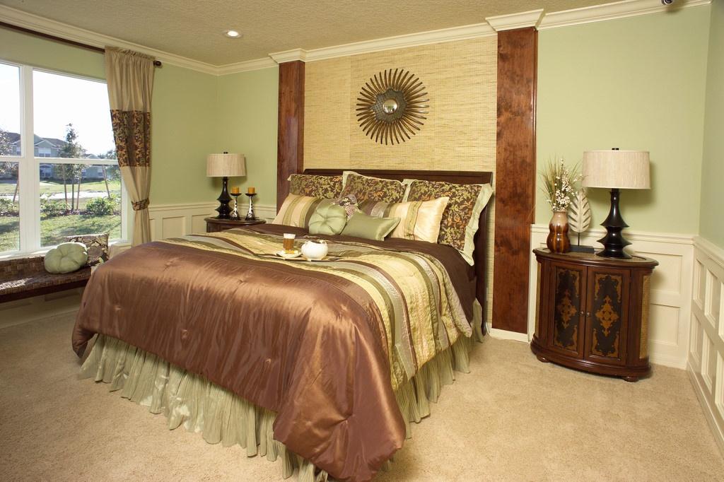 美式田园卧室飘窗装修效果图大全2013图片装修效果图