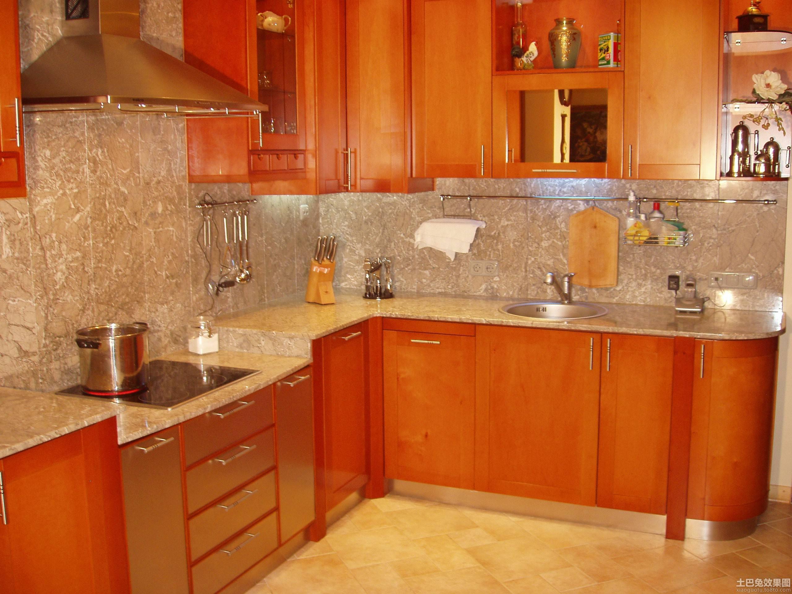 美式实木橱柜厨房设计装修效果图_第4张 - 家居图库