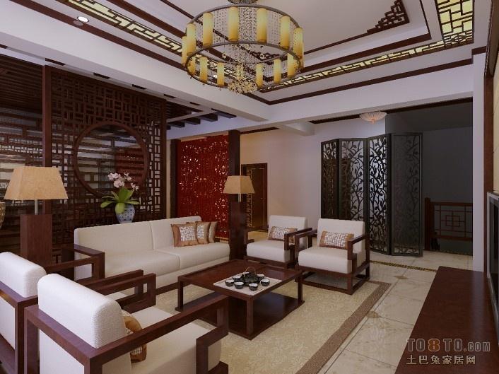 中式客厅吊顶装修效果图大全2012 (1/5)