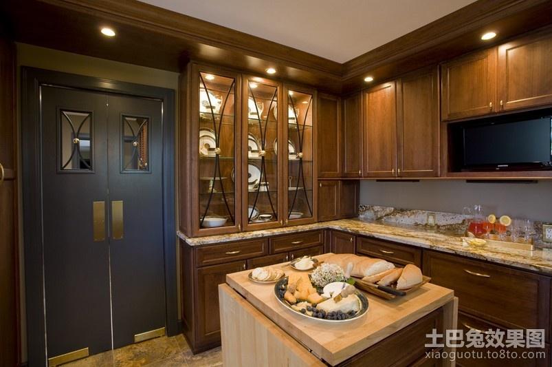 美式风格厨房样板房效果图装修效果图