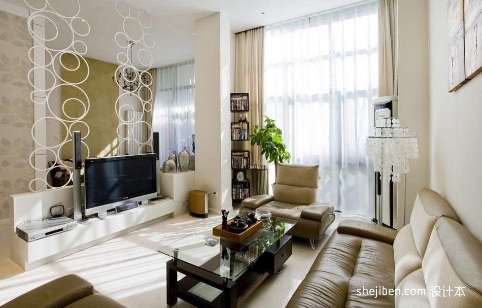 2013年楼房客厅电视背景墙装修图片 (2/9)