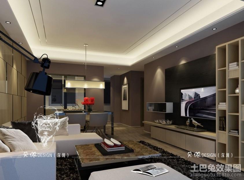 后现代风格电视背景墙设计装修效果图