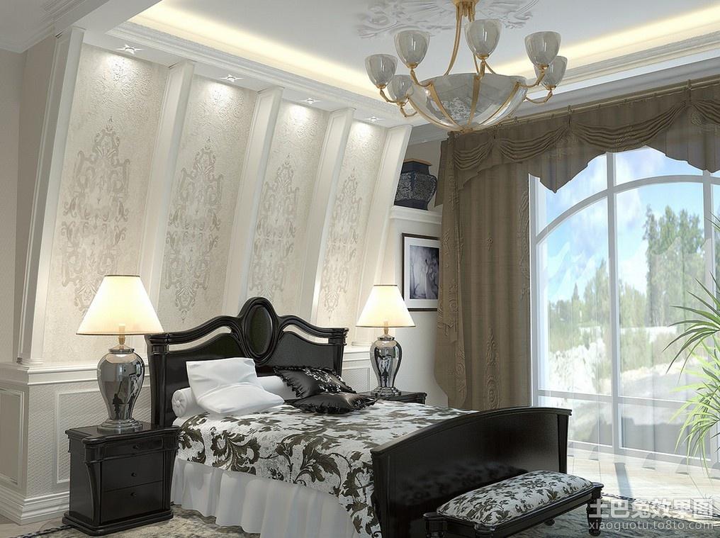 现代欧式主卧室背景墙装修效果图装修效果图