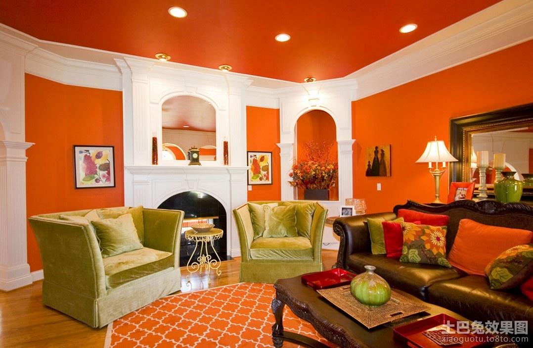 客厅颜色装饰效果图 暖色调客厅装修效果图 3 3